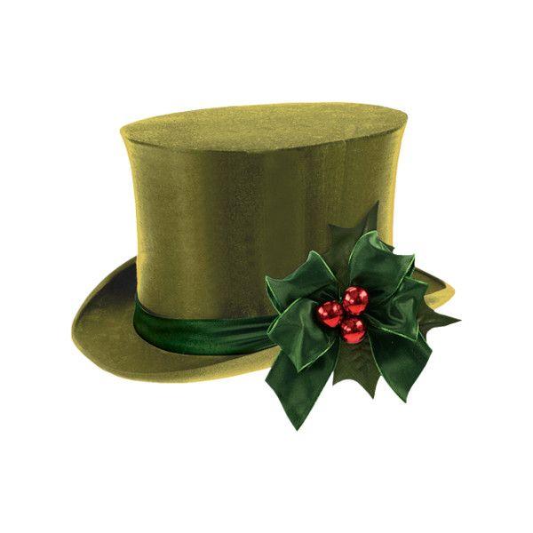 CHRISTMAS TOP HAT CLIP ART.