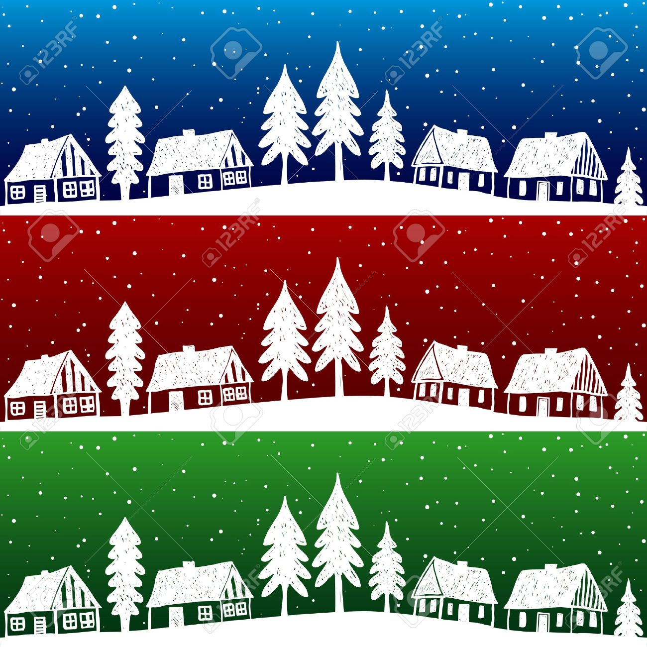1,080 Xmas Town City Village Cliparts, Stock Vector And Royalty.