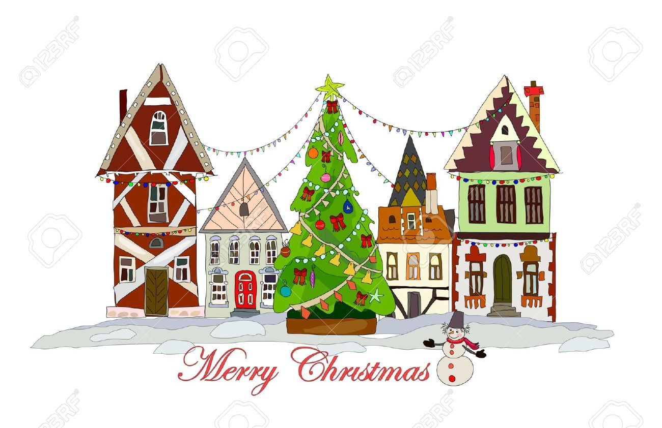 Christmas town clipart clipground
