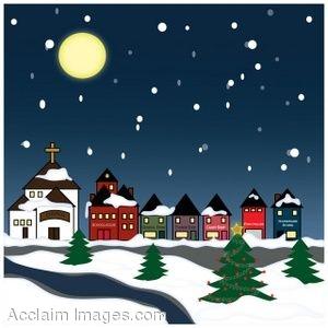 Christmas Town Clip Art.