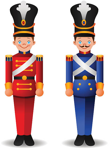 Christmas Toy Soldier Cartoon Illustrations, Royalty.