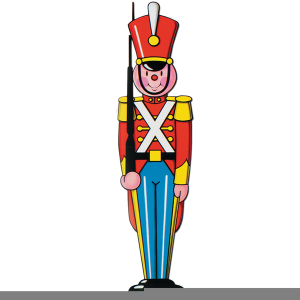 Free Christmas Toy Soldier Clipart.