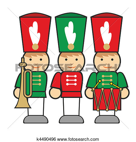 Christmas wooden soldiers clipart.