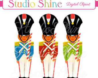Christmas Toy Soldier Clip Art.
