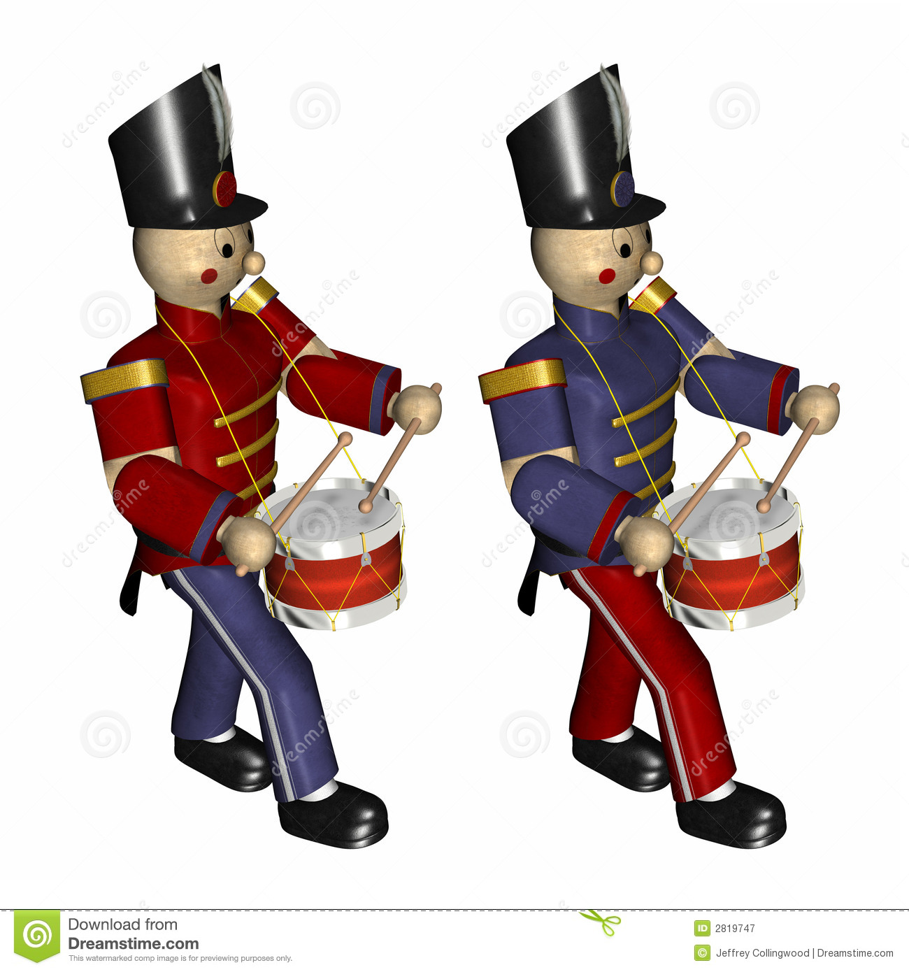 Showing post & media for Cartoon christmas toy soldier drum.