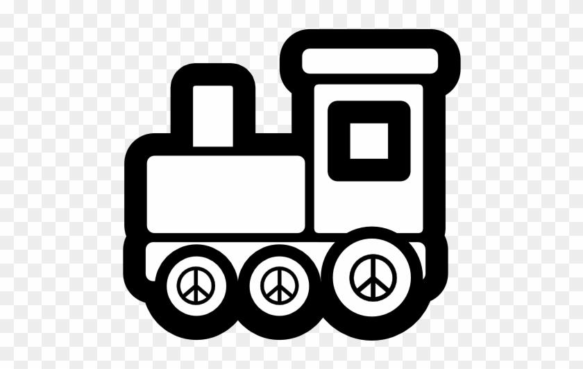 Toy Train Icon Black White Christmas Xmas Electronics.