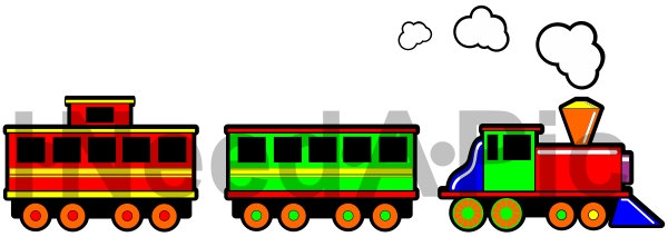 Christmas Toy Train Clipart.