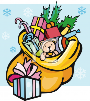 Royalty Free Christmas Presents Clipart.
