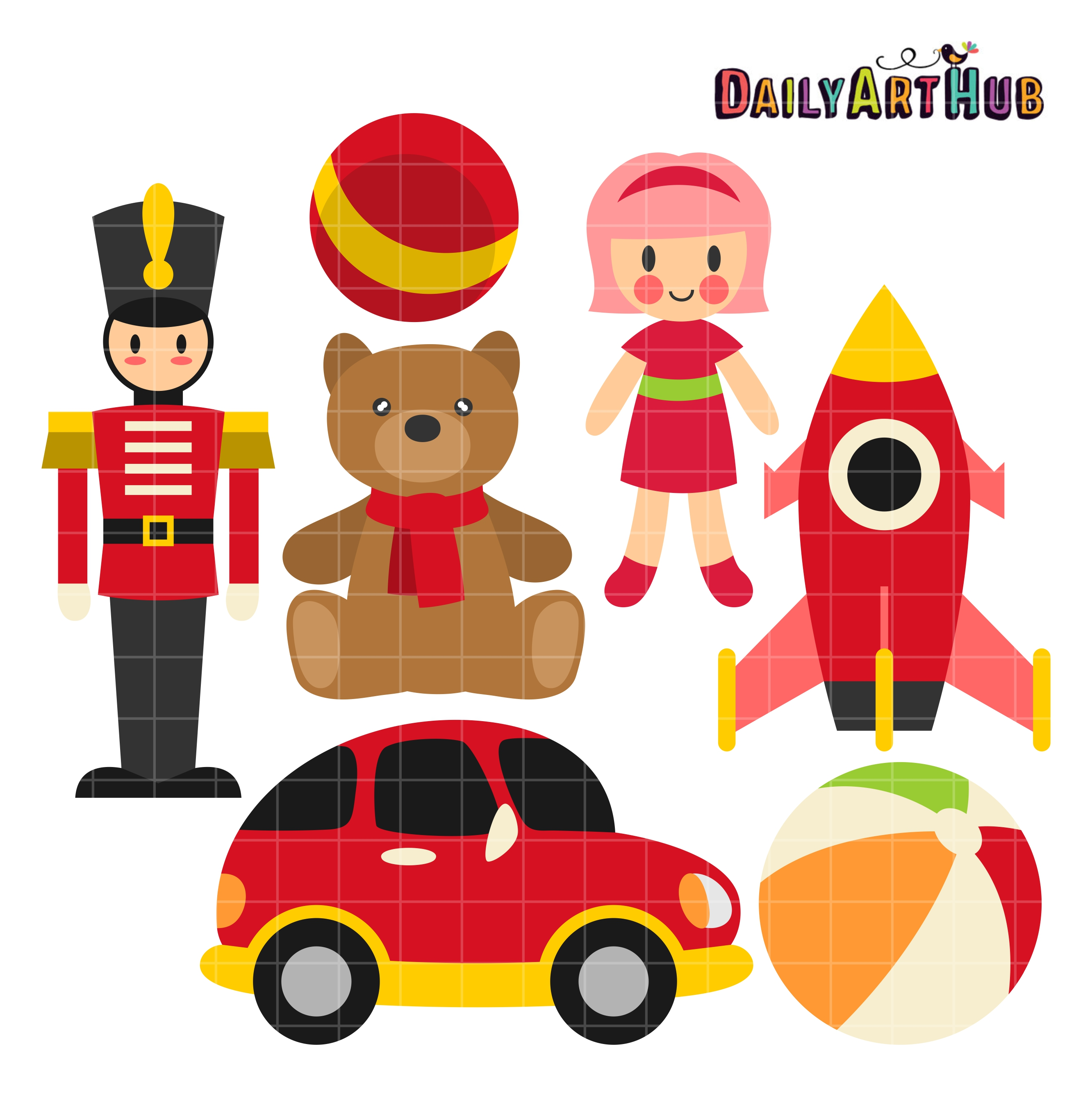 Set clipart toy.