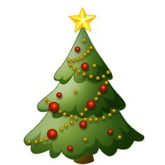 Traditional christmas tree clip art.