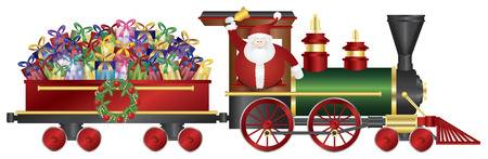 1,286 Christmas Train Cliparts, Stock Vector And Royalty Free.