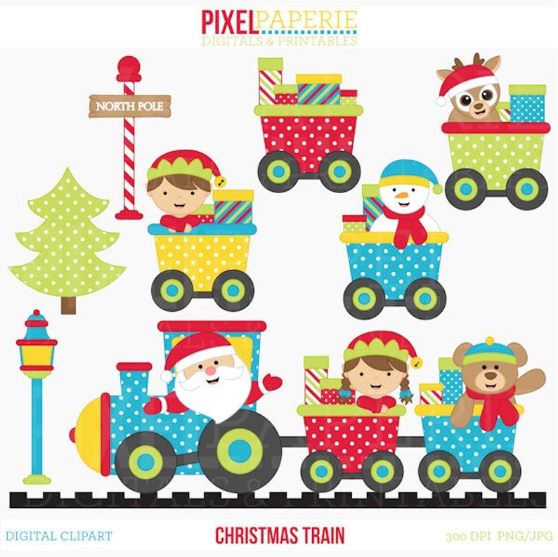christmas clipart train clip art santa.