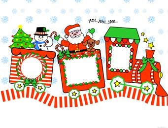 Printable Christmas Picture Frames.