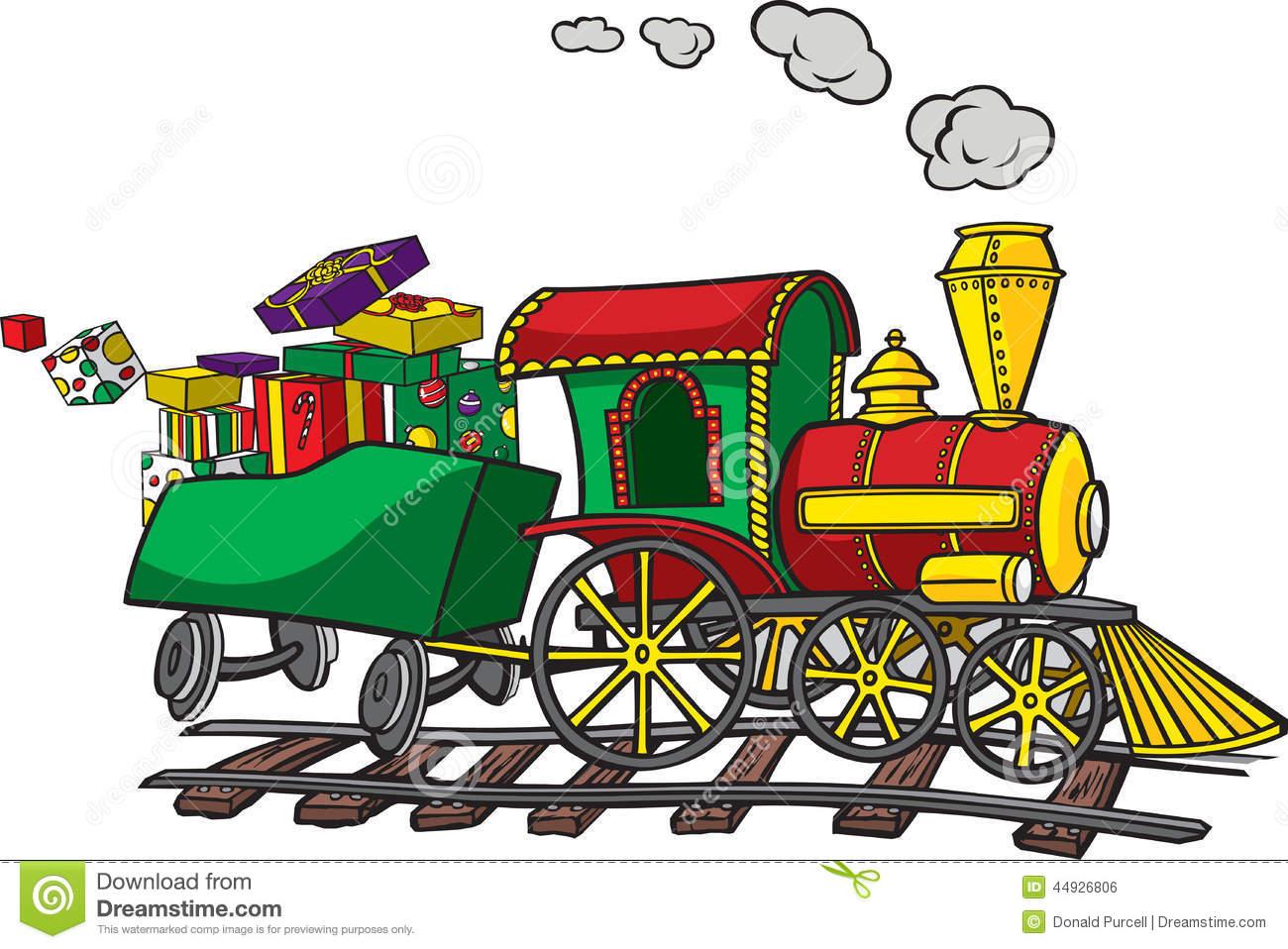 Christmas Train stock vector. Illustration of track, locomotive.