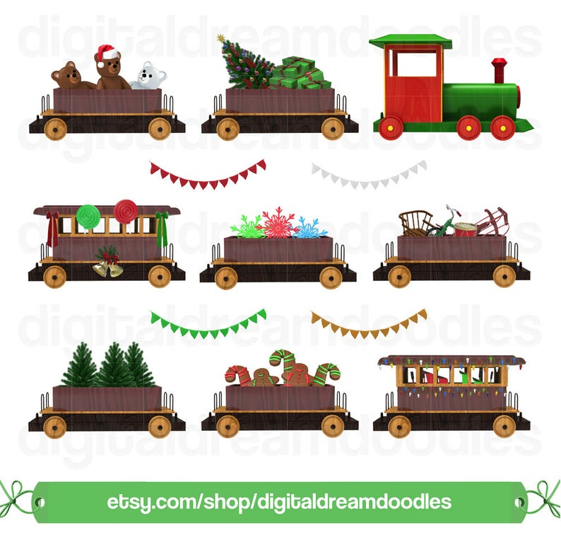 Christmas Train Clipart, Xmas Train Clip Art, Polar Express Graphic, Wagon  Cart Railroad Image, Winter Snow Globe Scrapbook Digital Download.