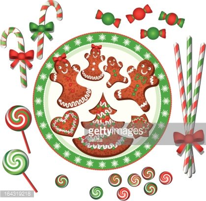 Christmas sweets Clipart Image.