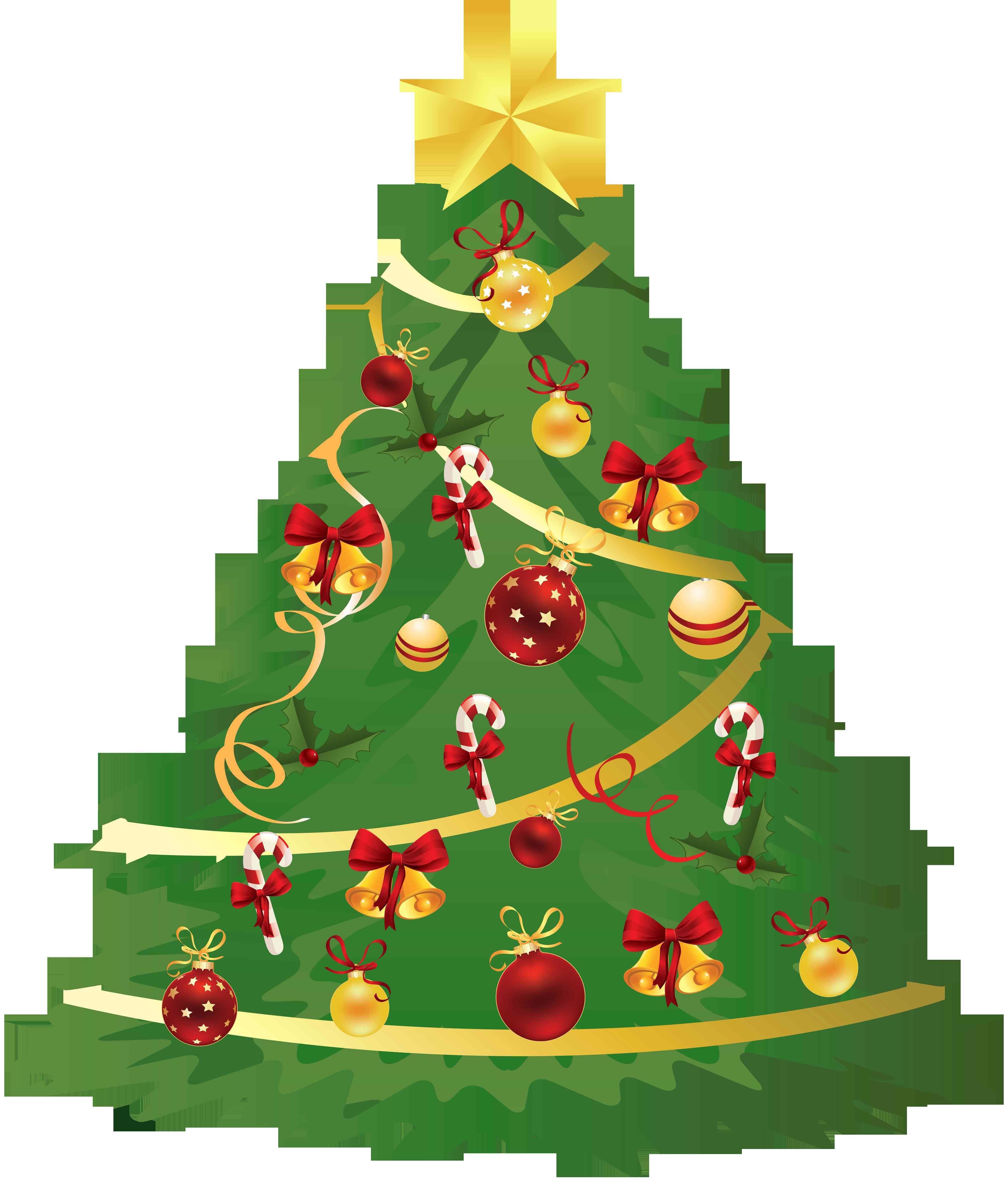 11+ Fresh Christmas Tree with Presents Clip Art.