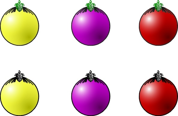 Christmas Balls clip art Free vector in Open office drawing svg.