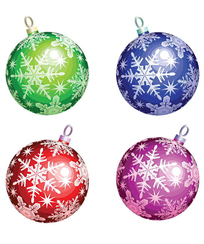 Christmas Tree Balls Clip Art.