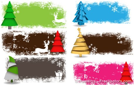 Free Christmas Tree Banners Clipart and Vector Graphics.