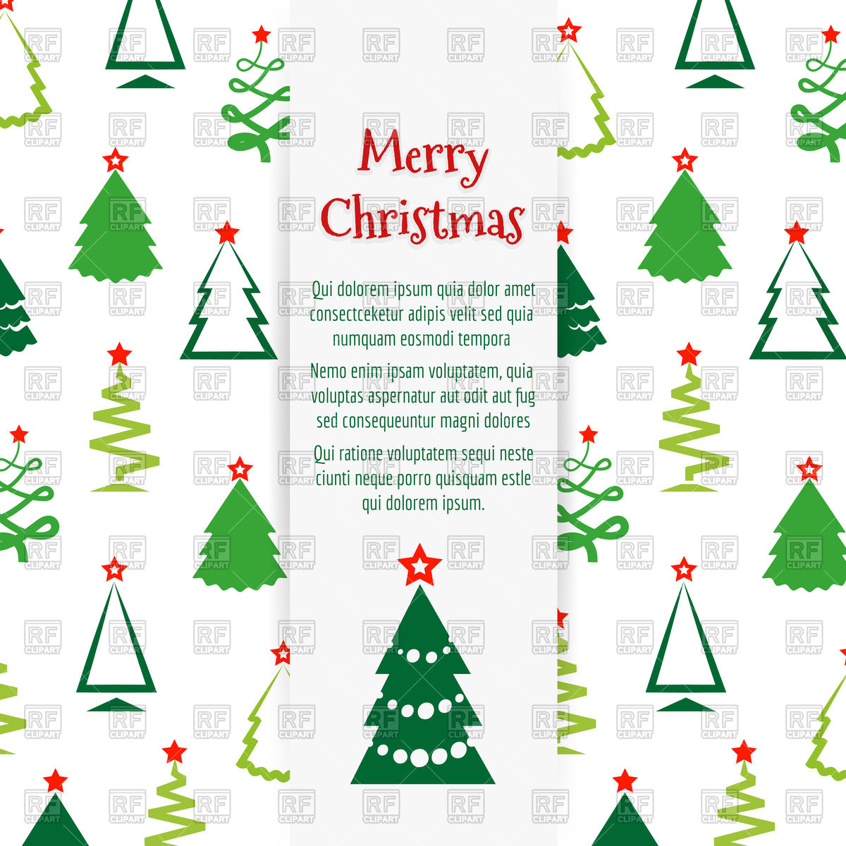 Colorful Christmas tree banner design Stock Vector Image.