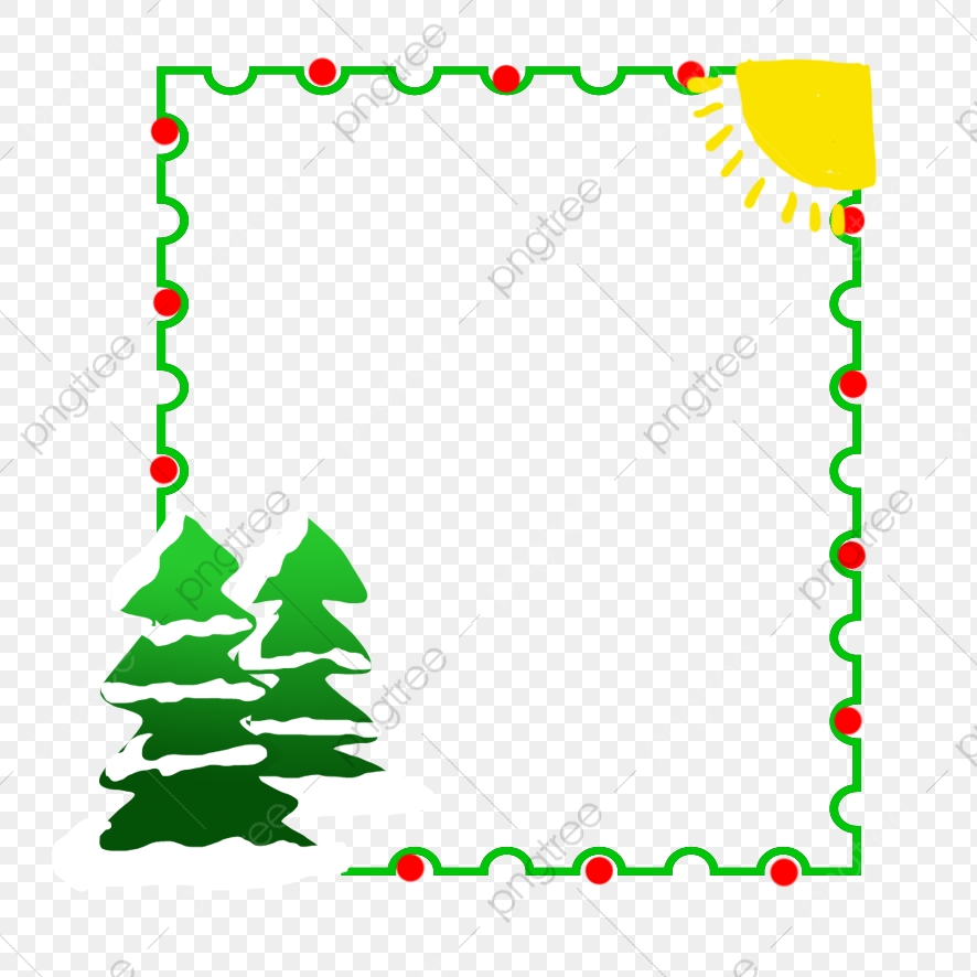 Christmas Christmas Tree Border Decoration Christmas Tree, Border.
