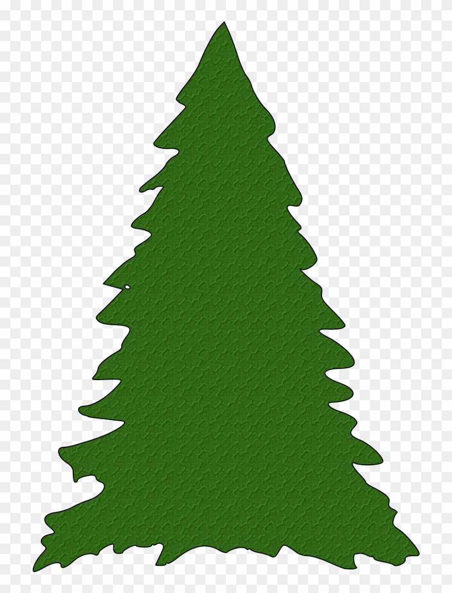 Green Christmas Tree Silhouette Clipart.