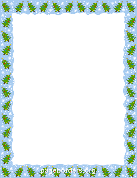 Christmas Tree Border: Clip Art, Page Border, and Vector Graphics.