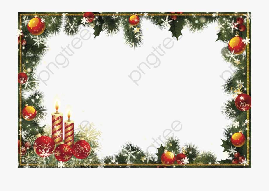 Christmas Border Clipart Transparent Background.
