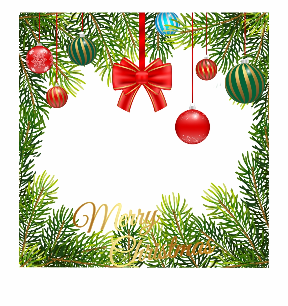 Clipart Transparent Stock Christmas Tree Border Clipart.