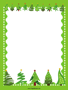 Christmas tree border clipart free » Clipart Portal.