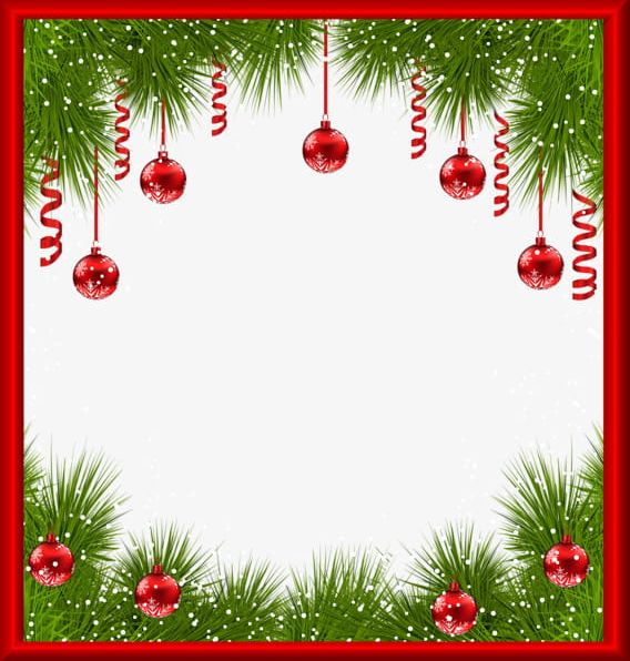 Creative Christmas Cards Border PNG, Clipart, Balls, Border Clipart.