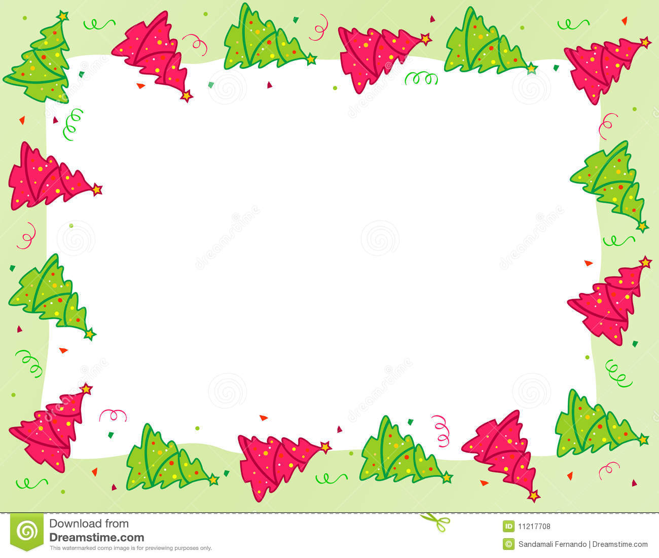 Christmas Tree Border Royalty Free Stock Photos.