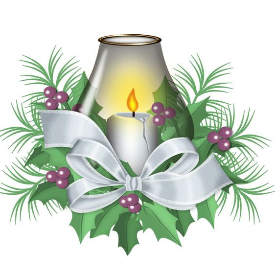 CHRISTMAS CANDLE CLIP ART.