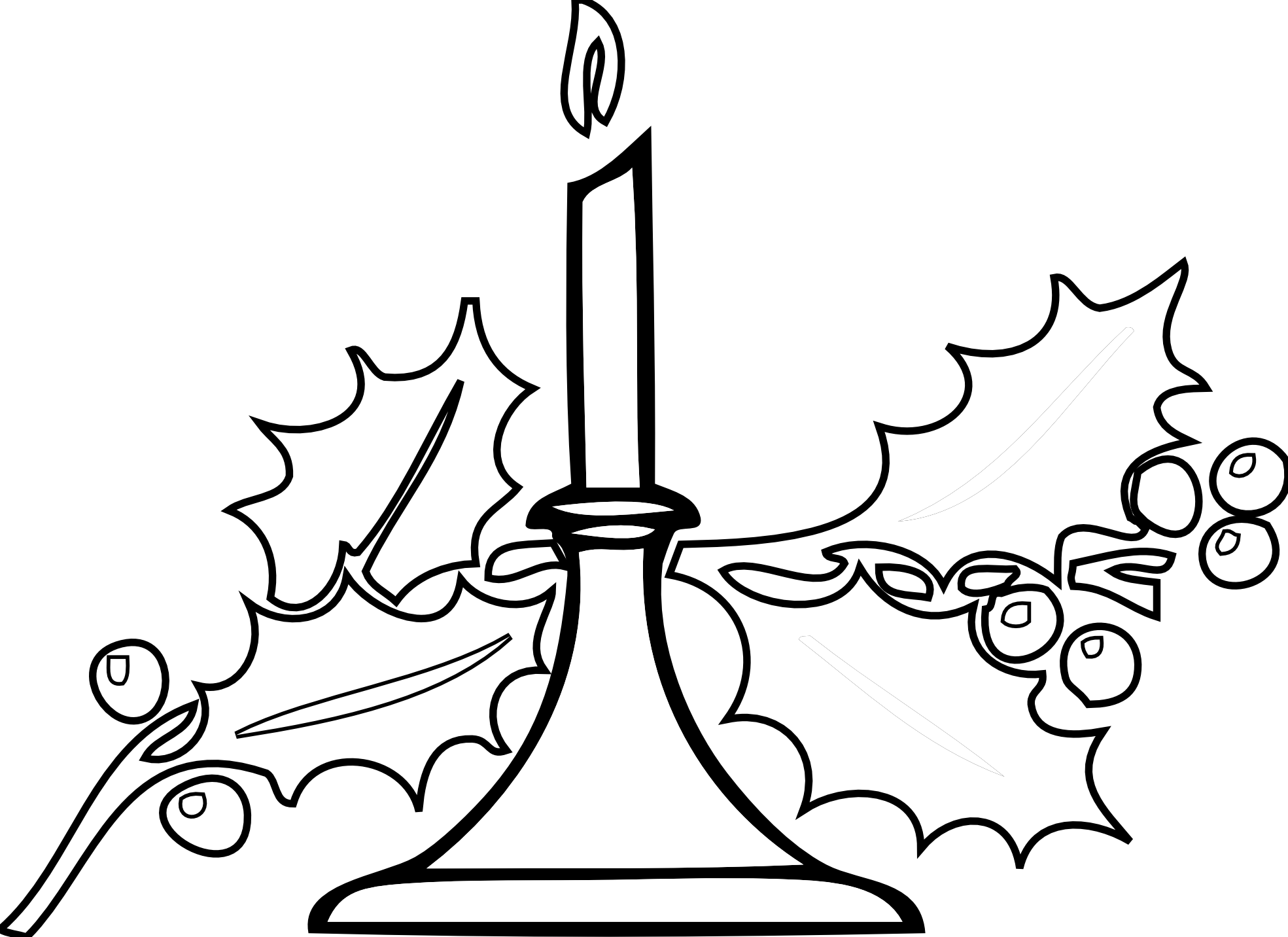 Christmas Candle Clipart.