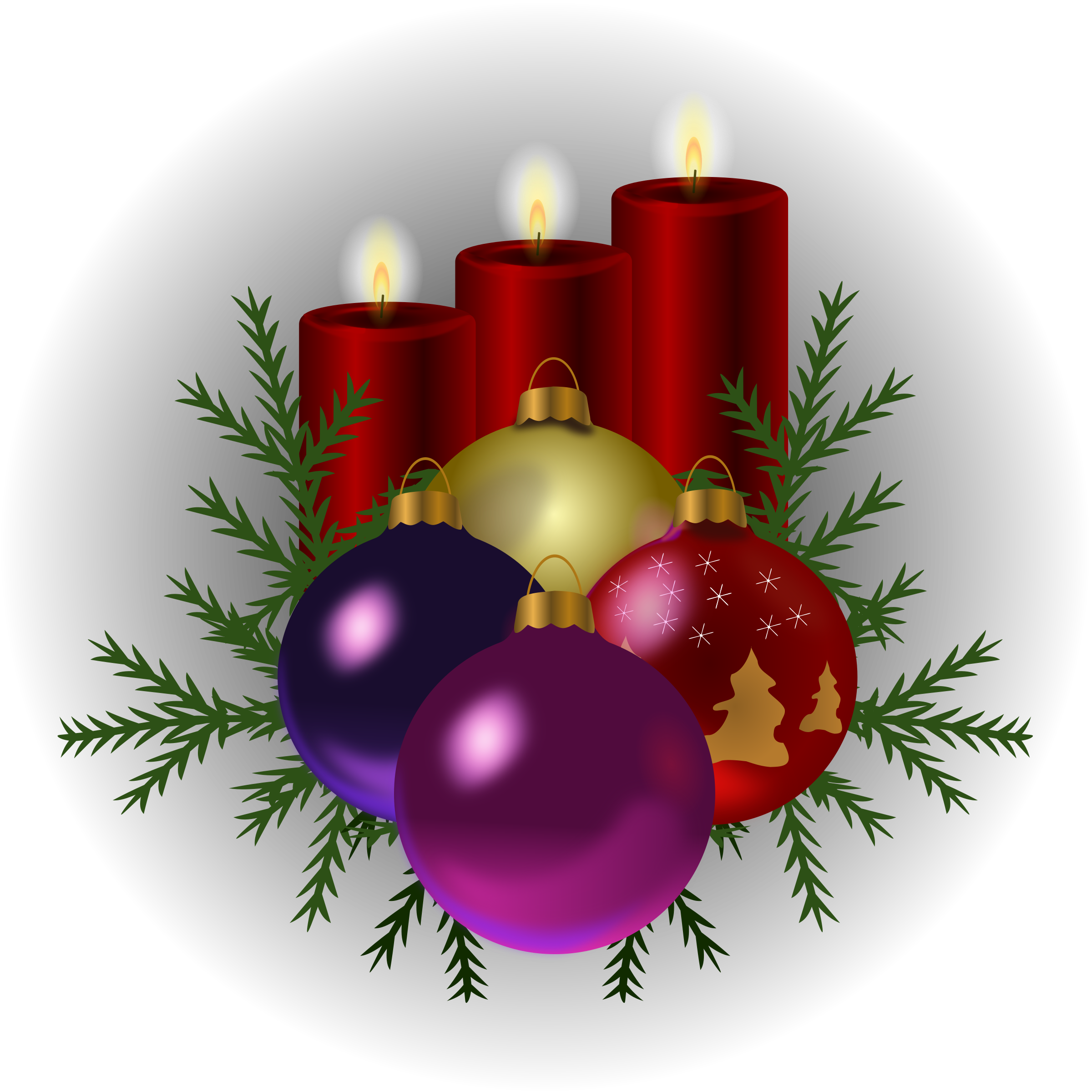 Christmas tree candles clipart #8
