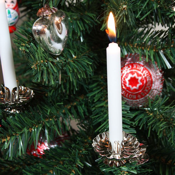 Christmas tree candles clipart.