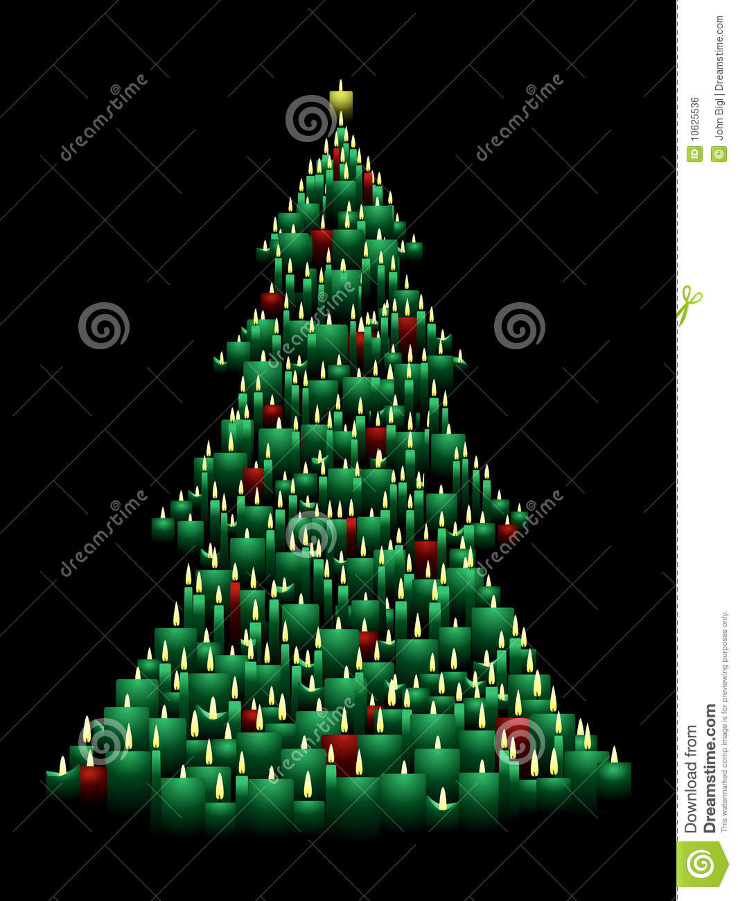 Christmas tree with candles clipart.