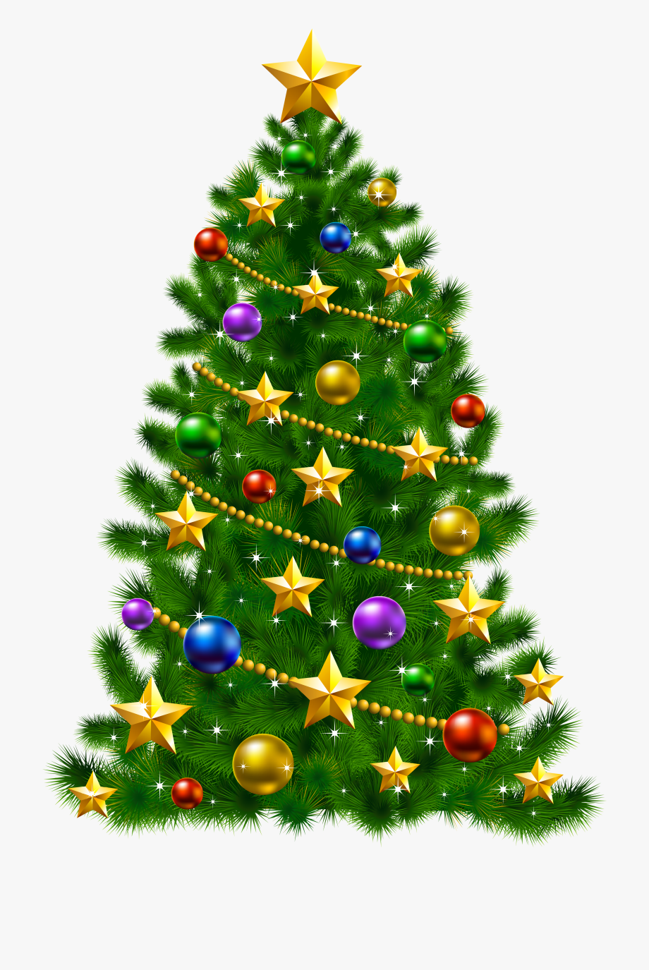 Transparent Christmas Tree Clipart.