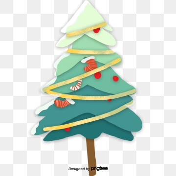 Cartoon Christmas Tree PNG Images.