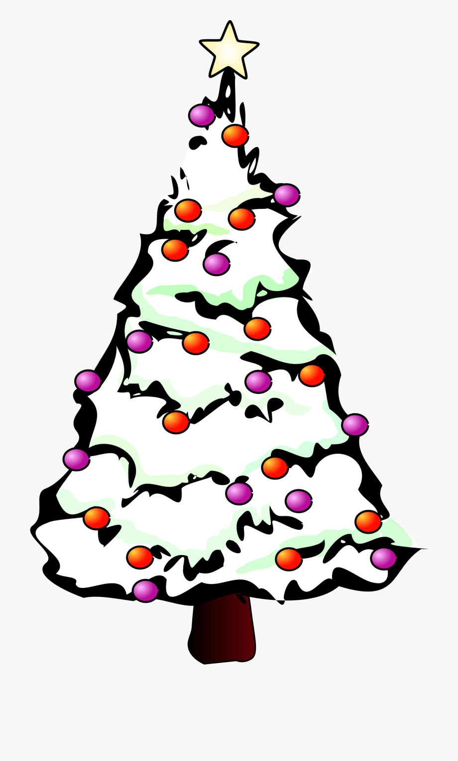 Free Christmas Clipart Black And White.