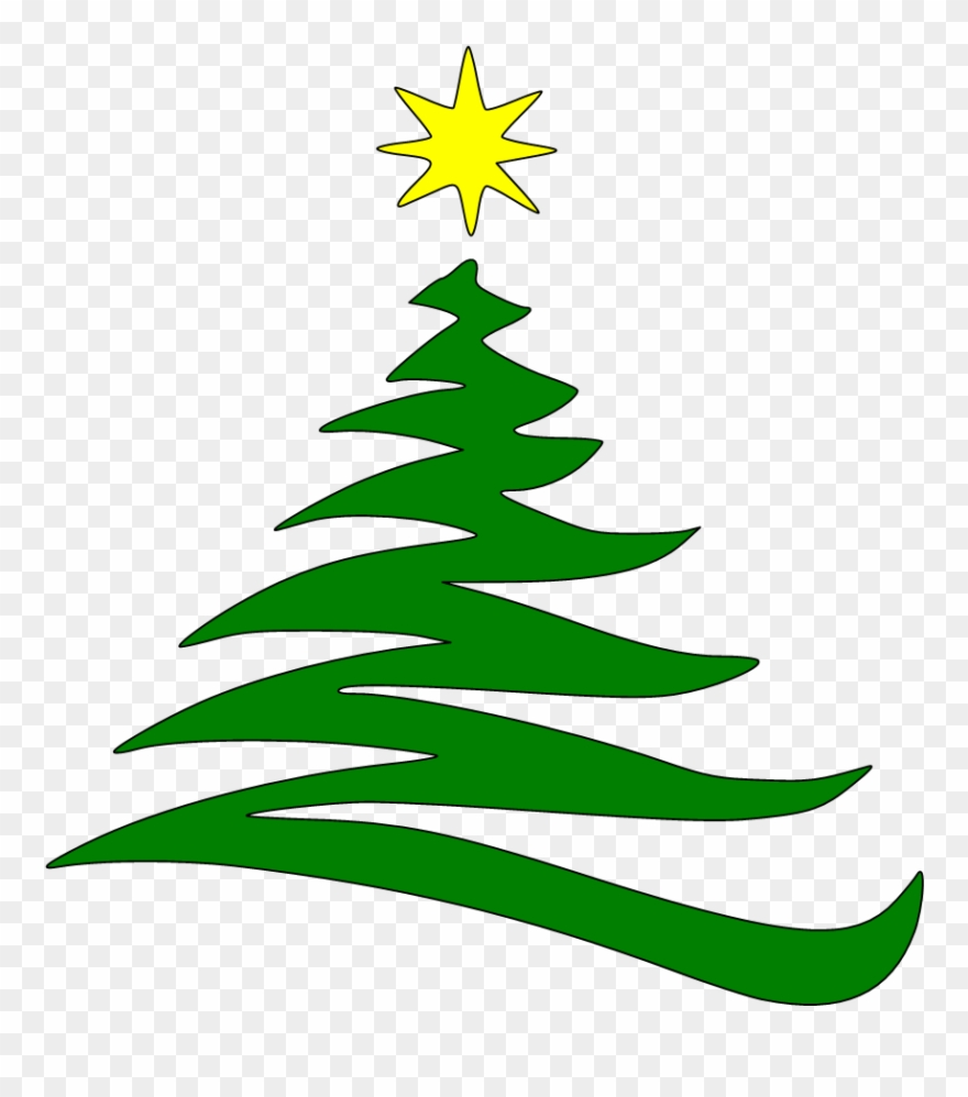Green Christmas Tree Outline Clipart Free Clip Art.