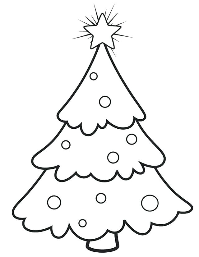 Christmas Tree Drawing Outline at PaintingValley.com.