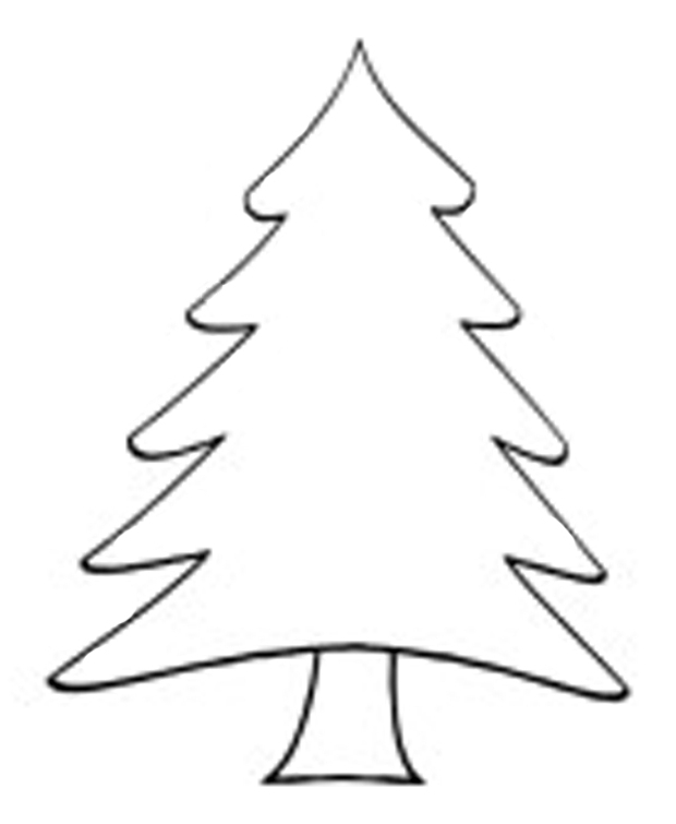 Christmas Tree Outline On Black Clipart Clipart Kid » Clipart Station.