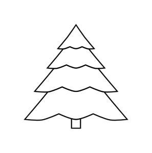 Christmas Tree Outline Clip Art at Clker.com.