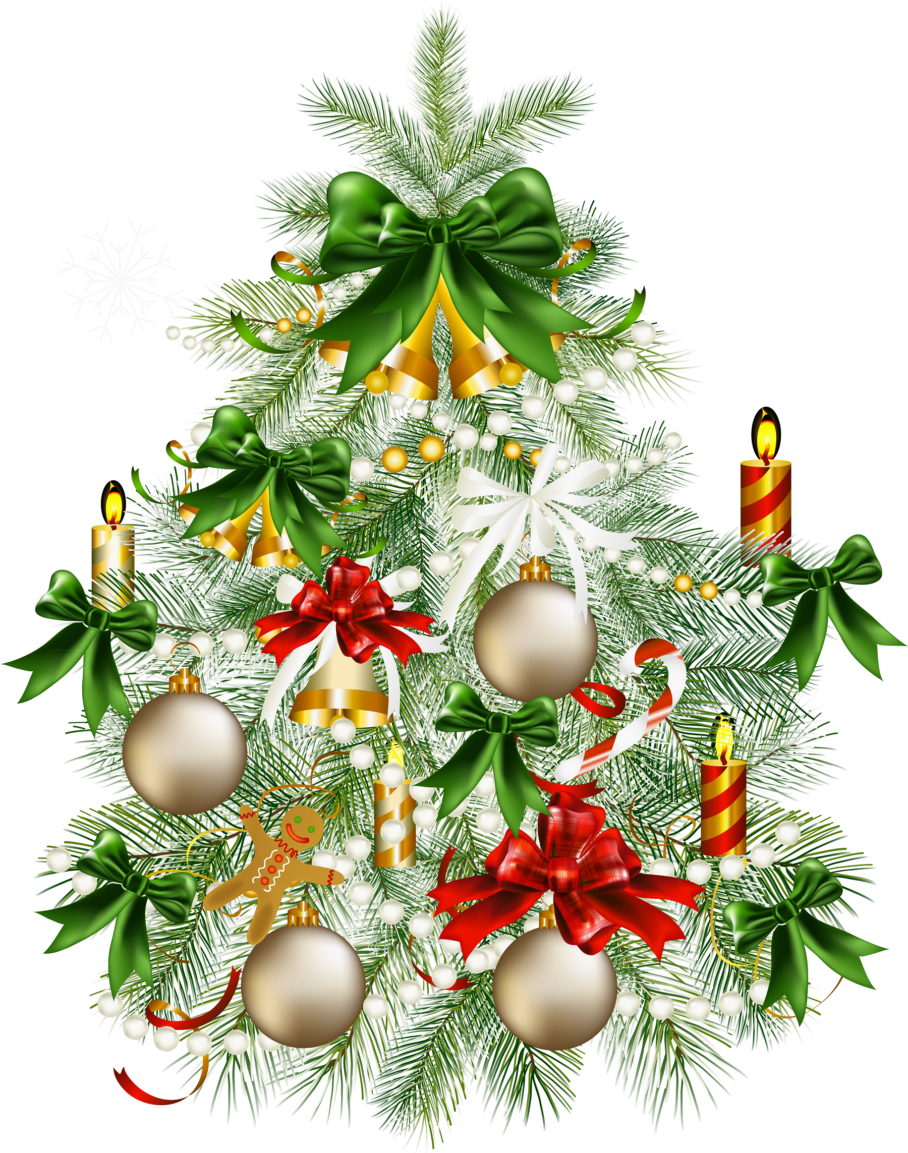 Christmas tree clip art large.