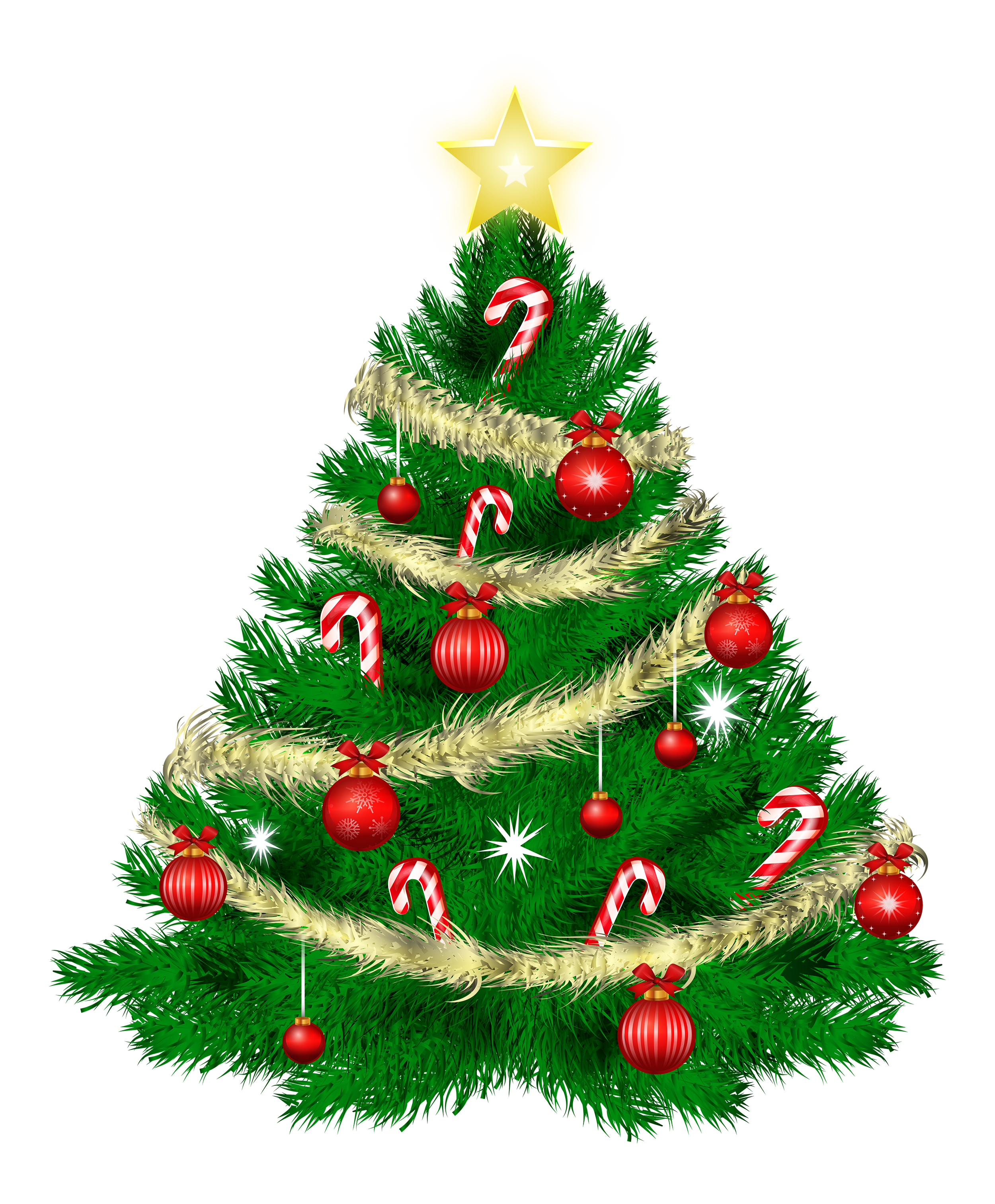 Christmas tree pictures clip art.
