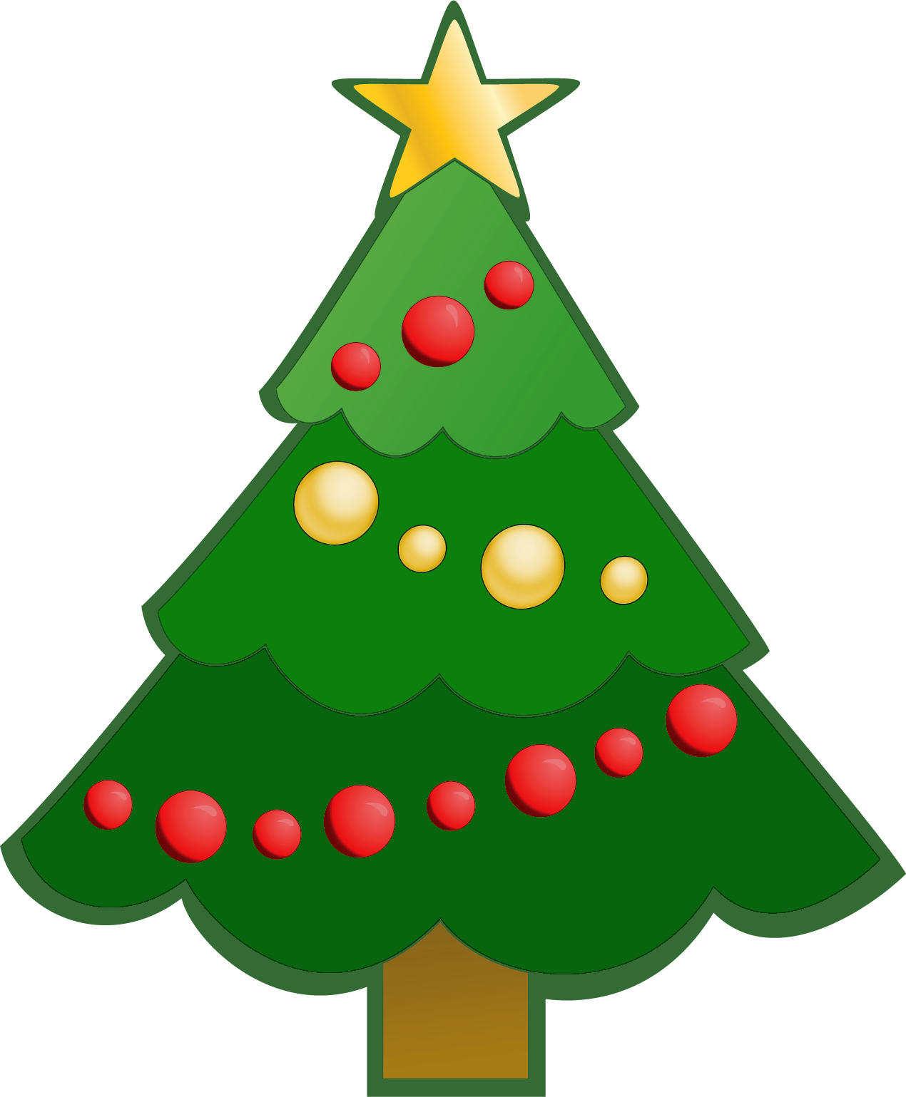 Simple Christmas Tree Clipart.