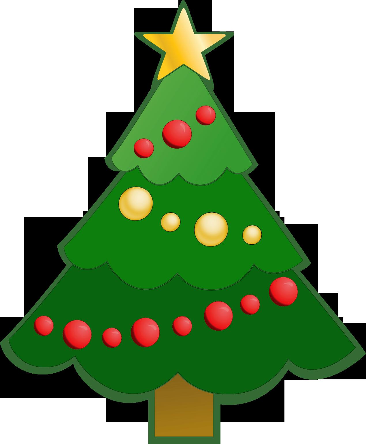Simple Christmas Tree Clipart.