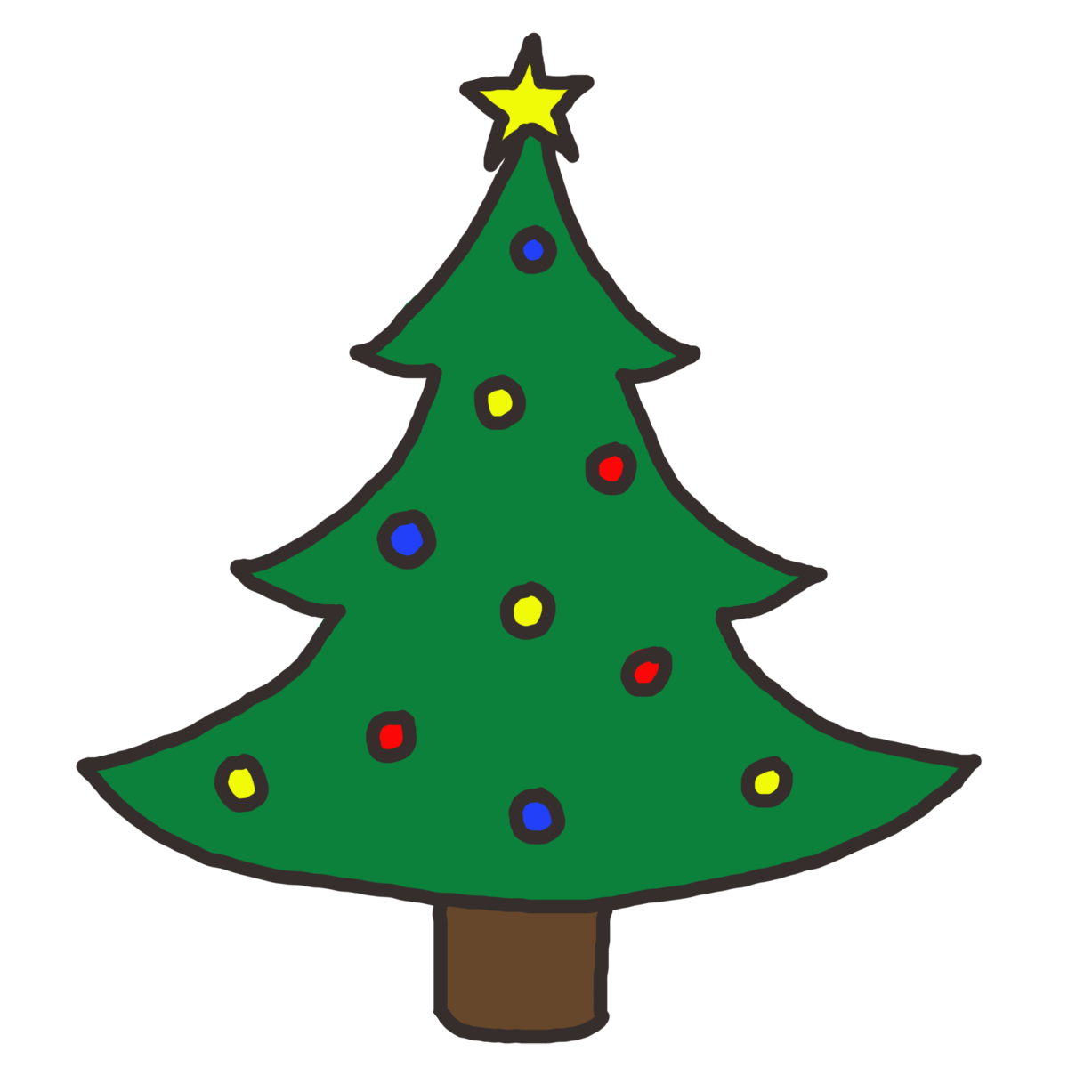 Christmas Tree Clip Art Free.